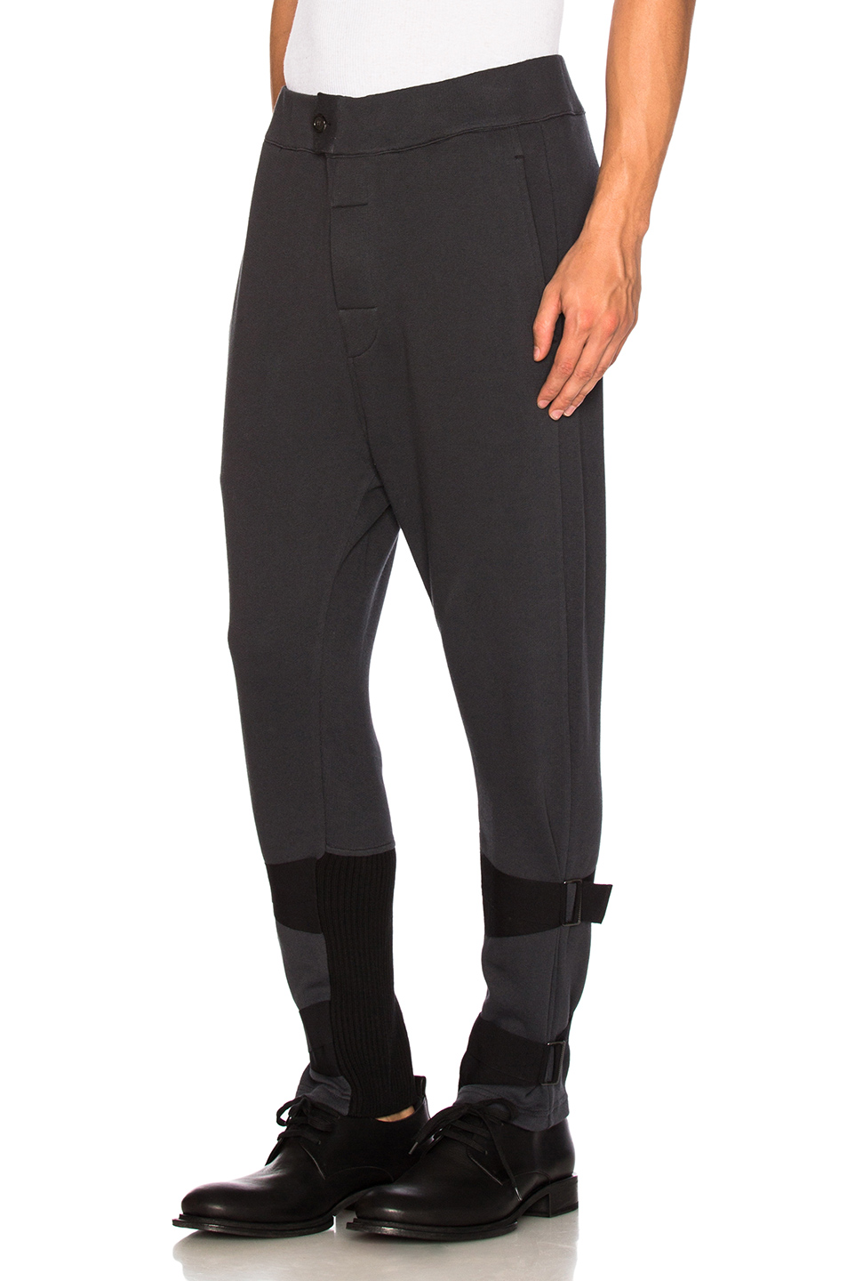 Ann Demeulemeester Strap Sweatpants in Black