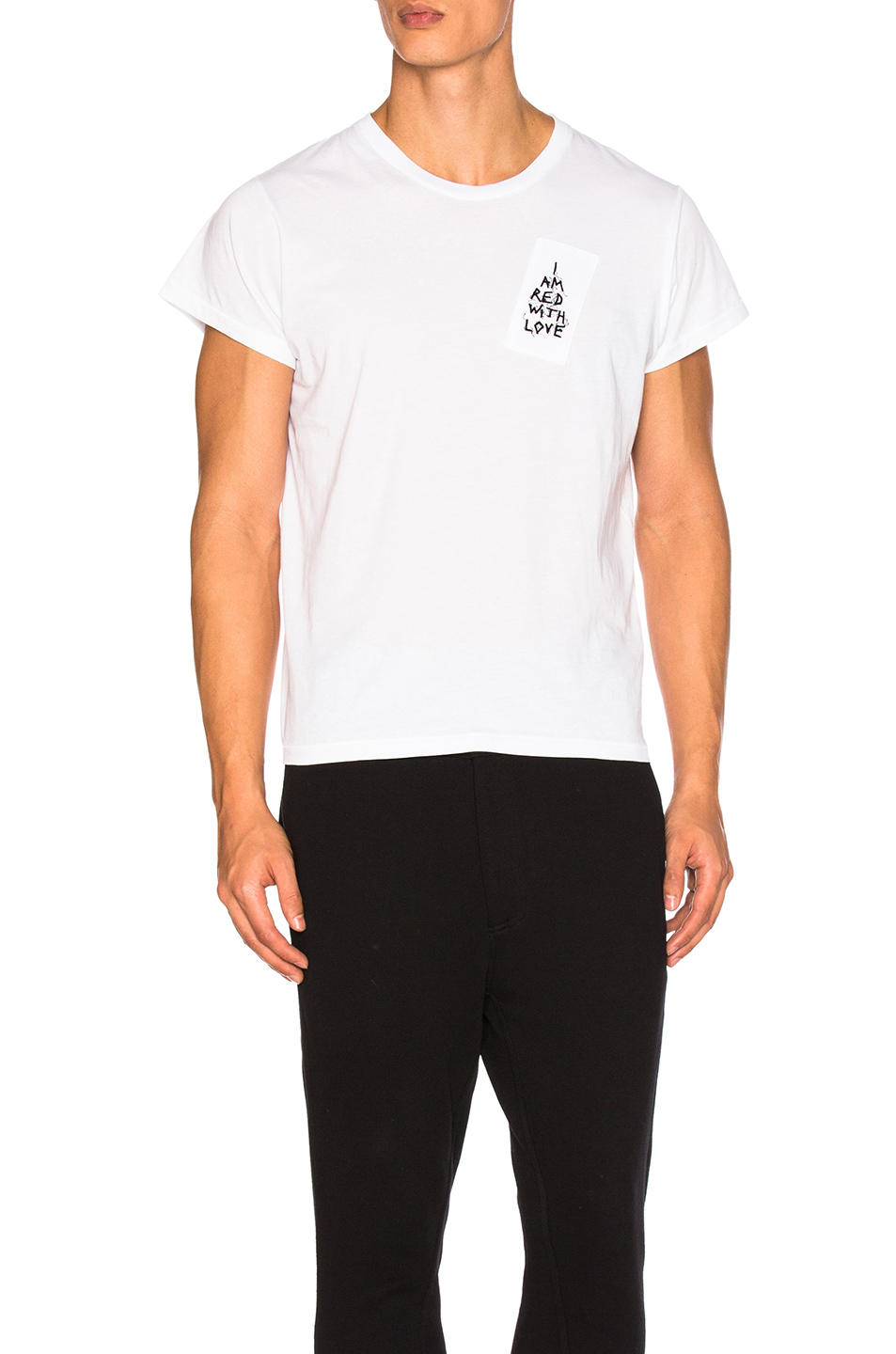Ann Demeulemeester Love Embroidery Tee in White