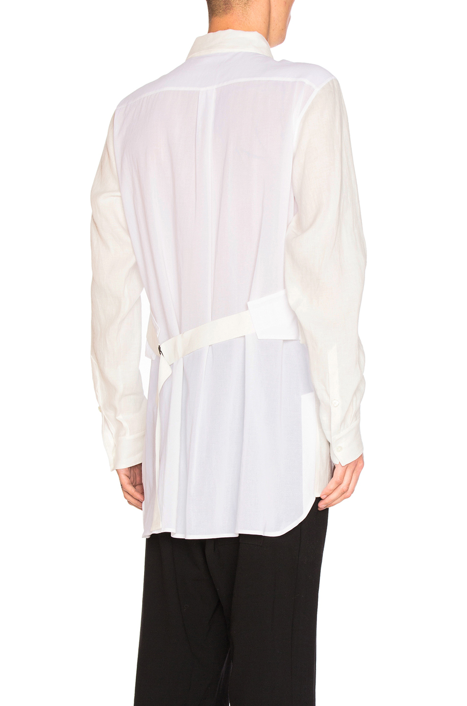 Ann Demeulemeester Strap Back Shirt in White
