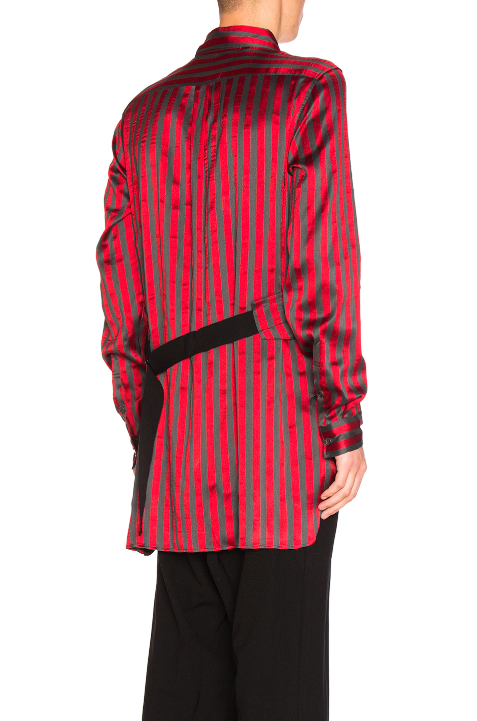 Ann Demeulemeester for FWRD Shirt in Gray,Red,Stripes