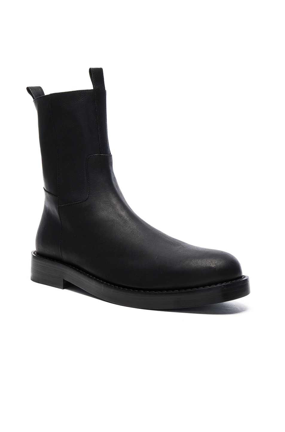 Photo of Ann Demeulemeester Leather Boots in Black - shop Ann Demeulemeester menswear