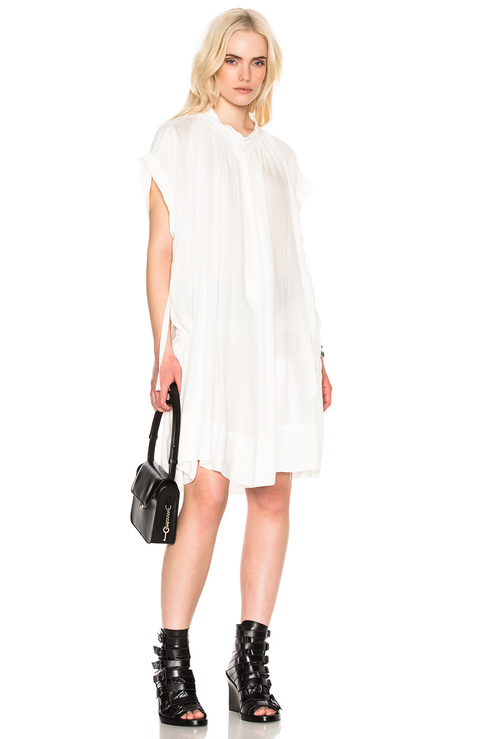 Ann Demeulemeester Tunic in White