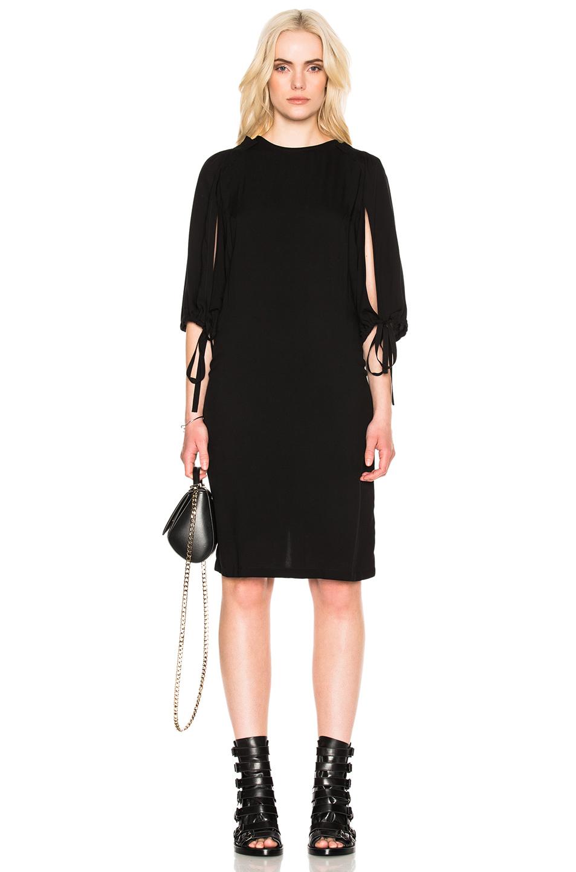 Ann Demeulemeester Open Sleeve Dress in Black
