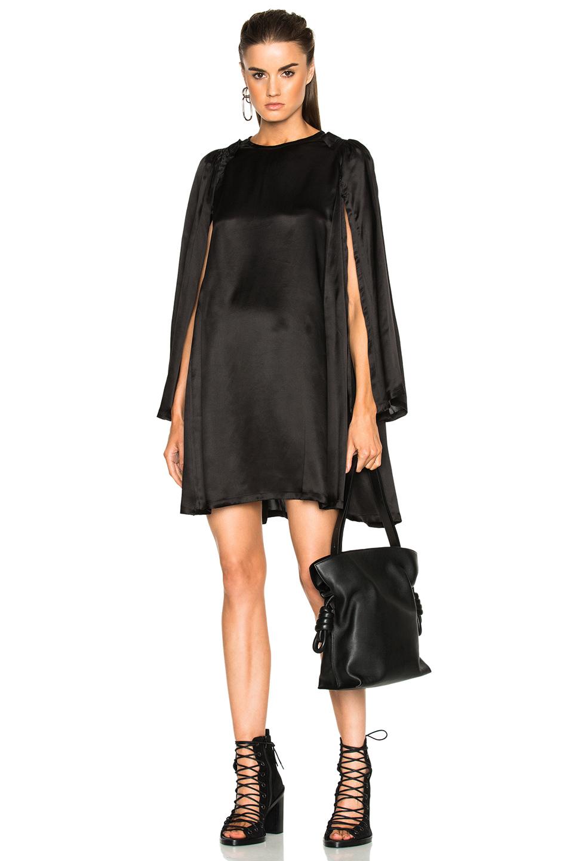Ann Demeulemeester Long Sleeve Dress in Black