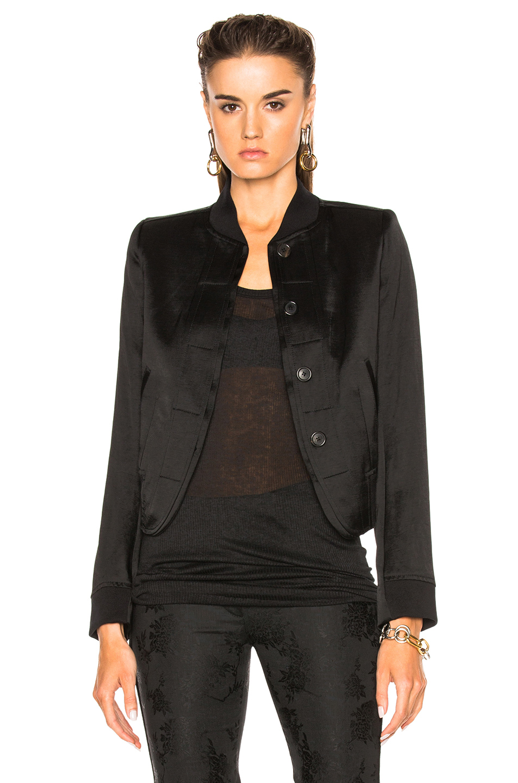 Ann Demeulemeester Bomber Jacket in Black