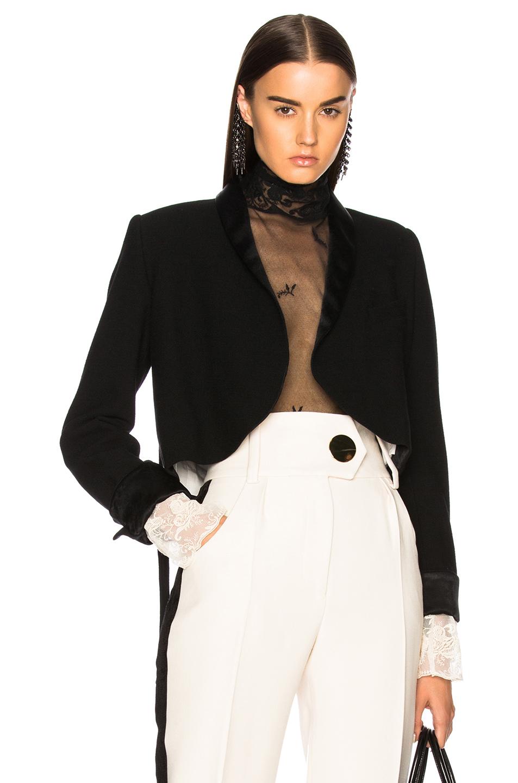 Ann Demeulemeester Wrap Belted Blazer in Black