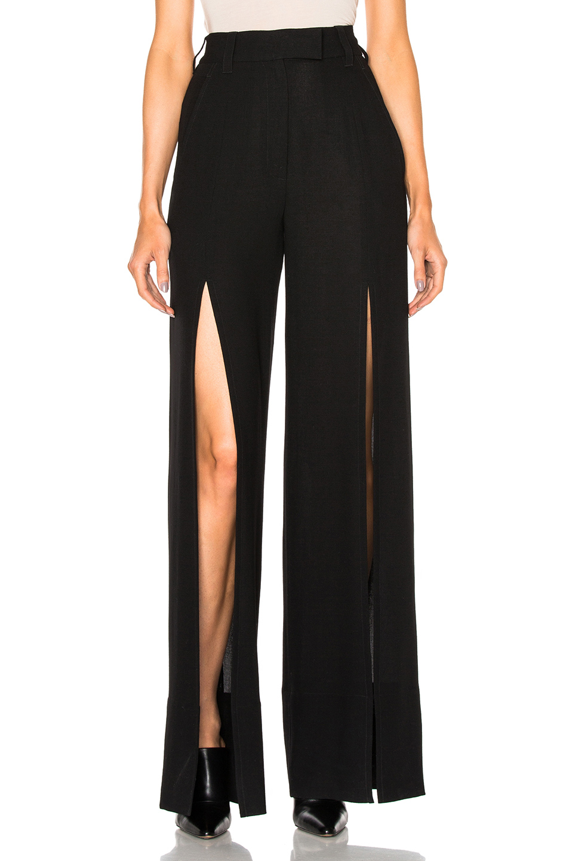 Ann Demeulemeester Slit Leg Trousers in Black