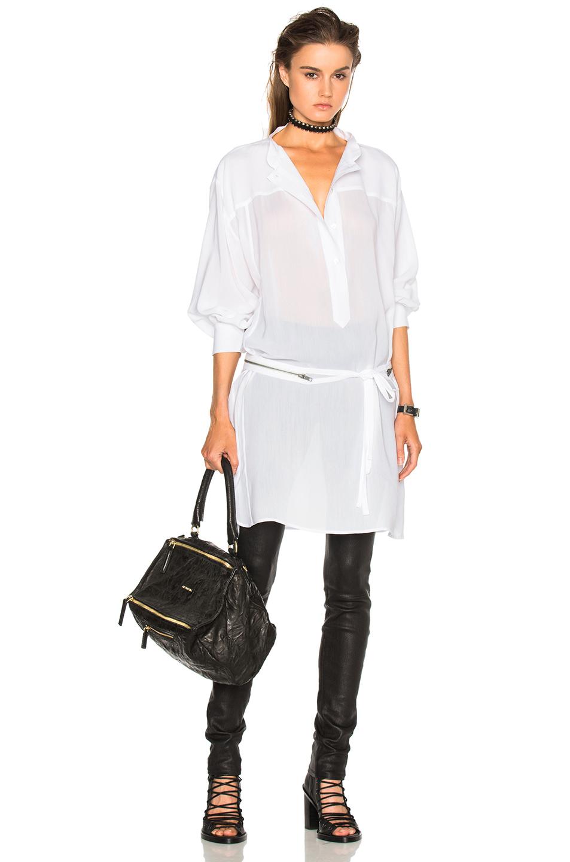 Ann Demeulemeester Tie Waist Blouse in White