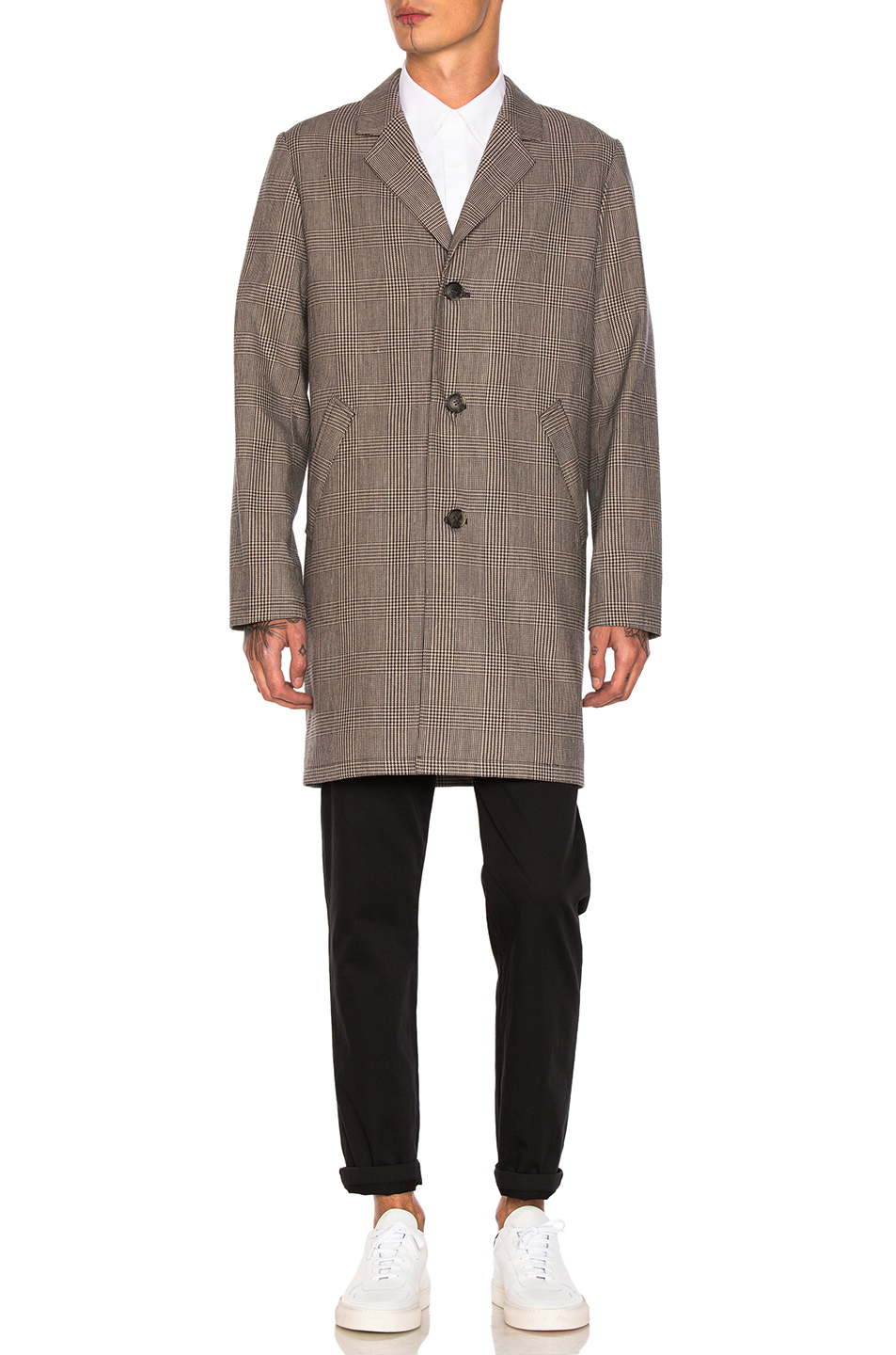 A.P.C. Tristan Coat in Brown,Checkered & Plaid