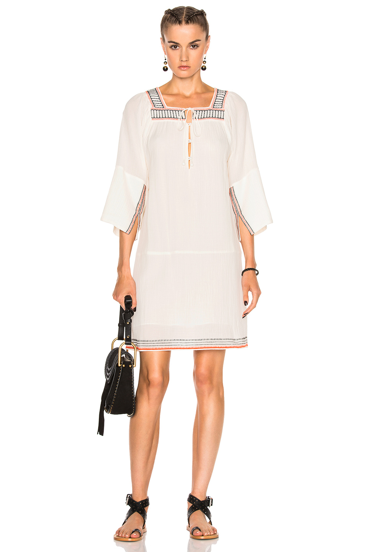Apiece Apart Embroidered Nueva Tewa Dress in White