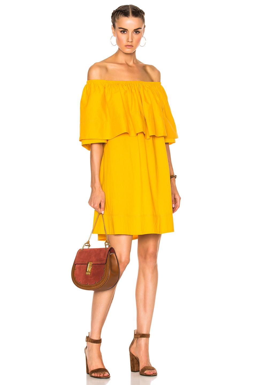 APIECE APART Piper Petal Dress in Yellow