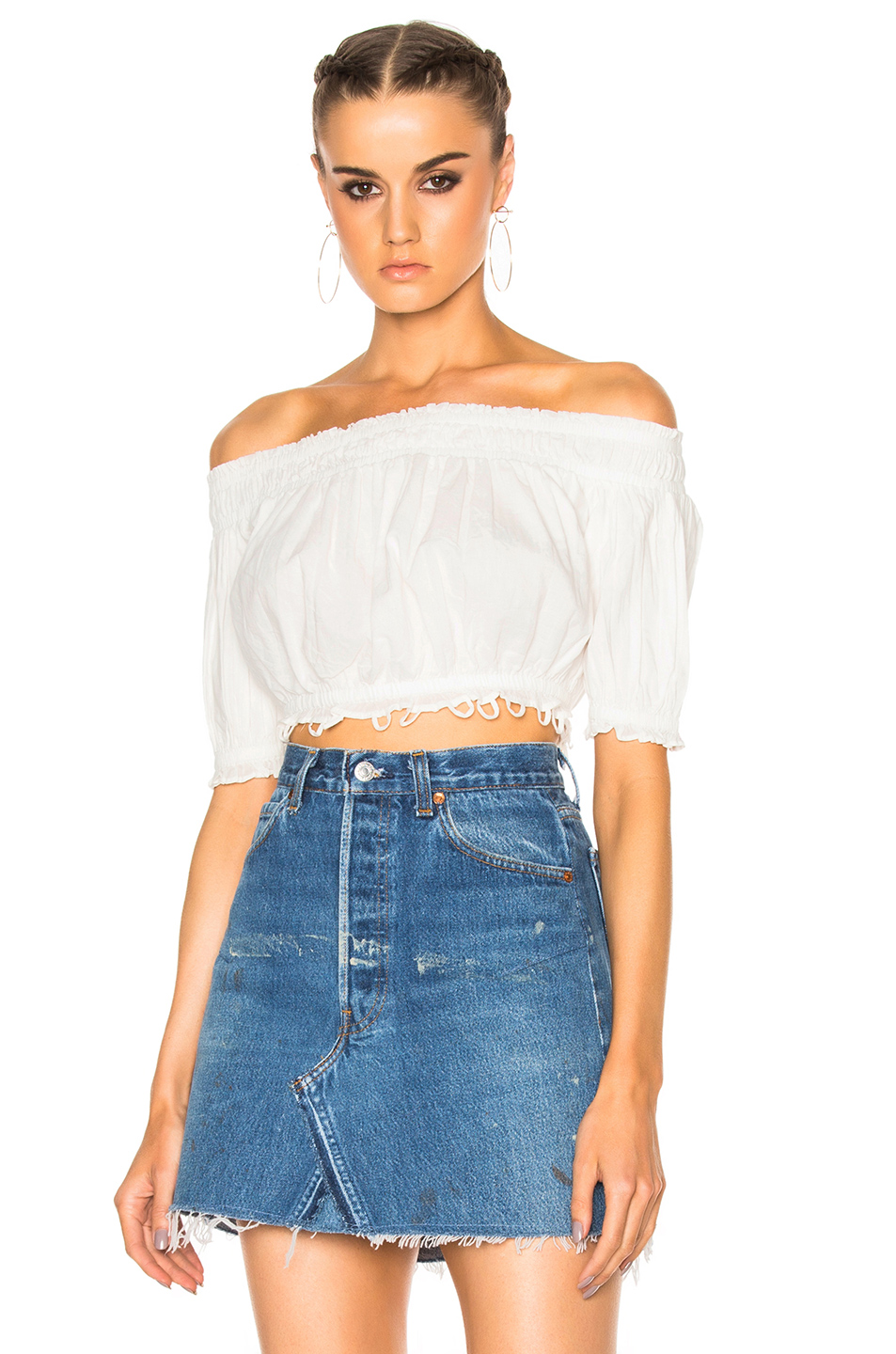 Apiece Apart Oeste Off The Shoulder Top in White