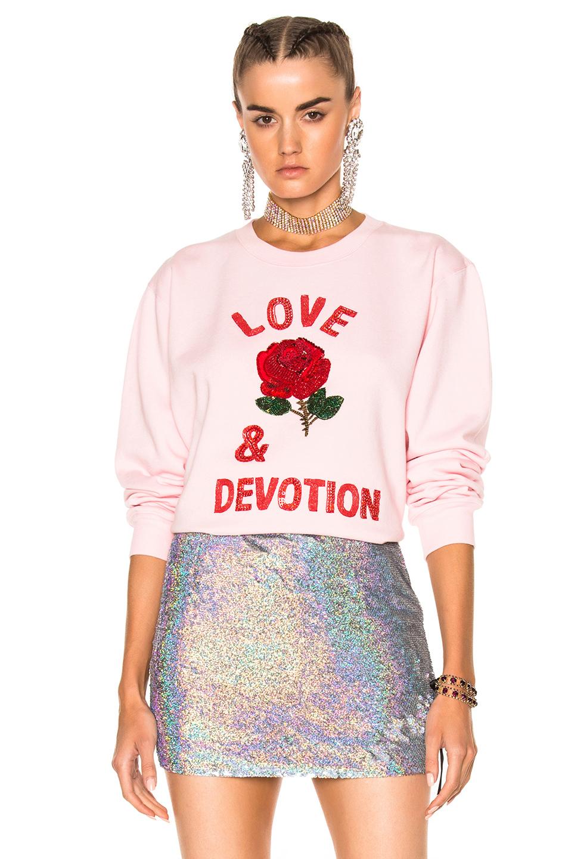 Ashish Love & Devotion Sweatshirt in Pink