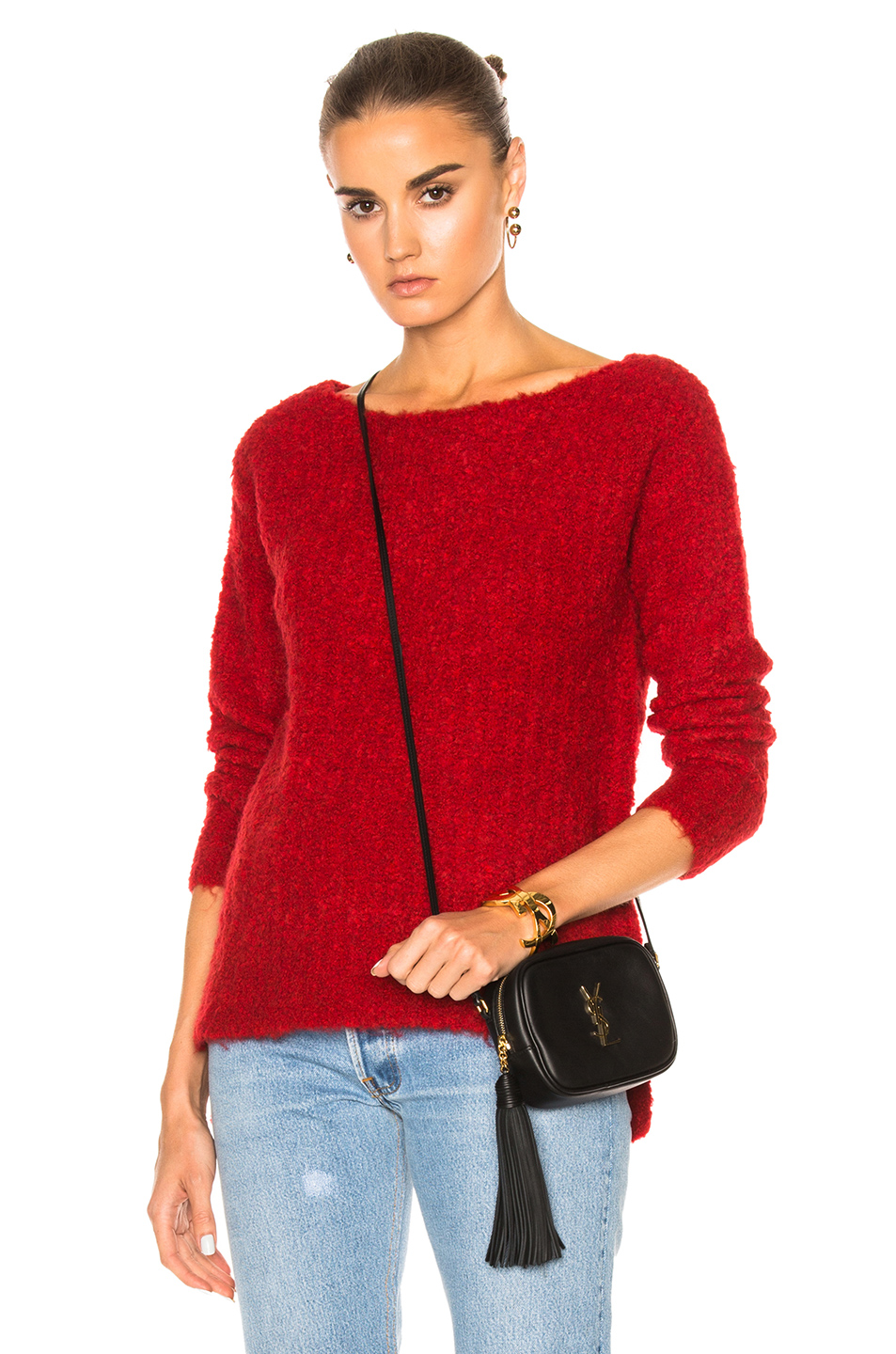ATM Anthony Thomas Melillo Cozy Pullover Sweater in Red
