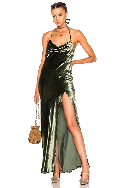 ATTICO Leticia Dress in Green