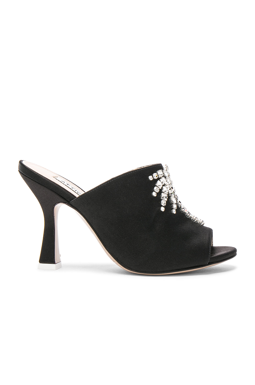 ATTICO Sartin Pamela Slide Heels in Black