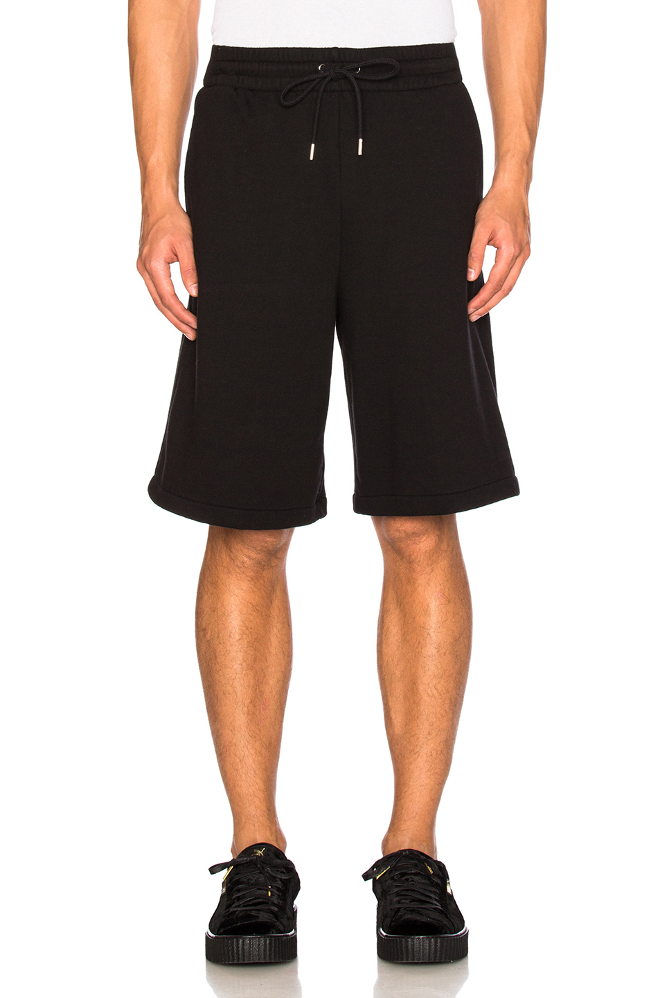 Alexander Wang Vintage Fleece Sweat Shorts in Black