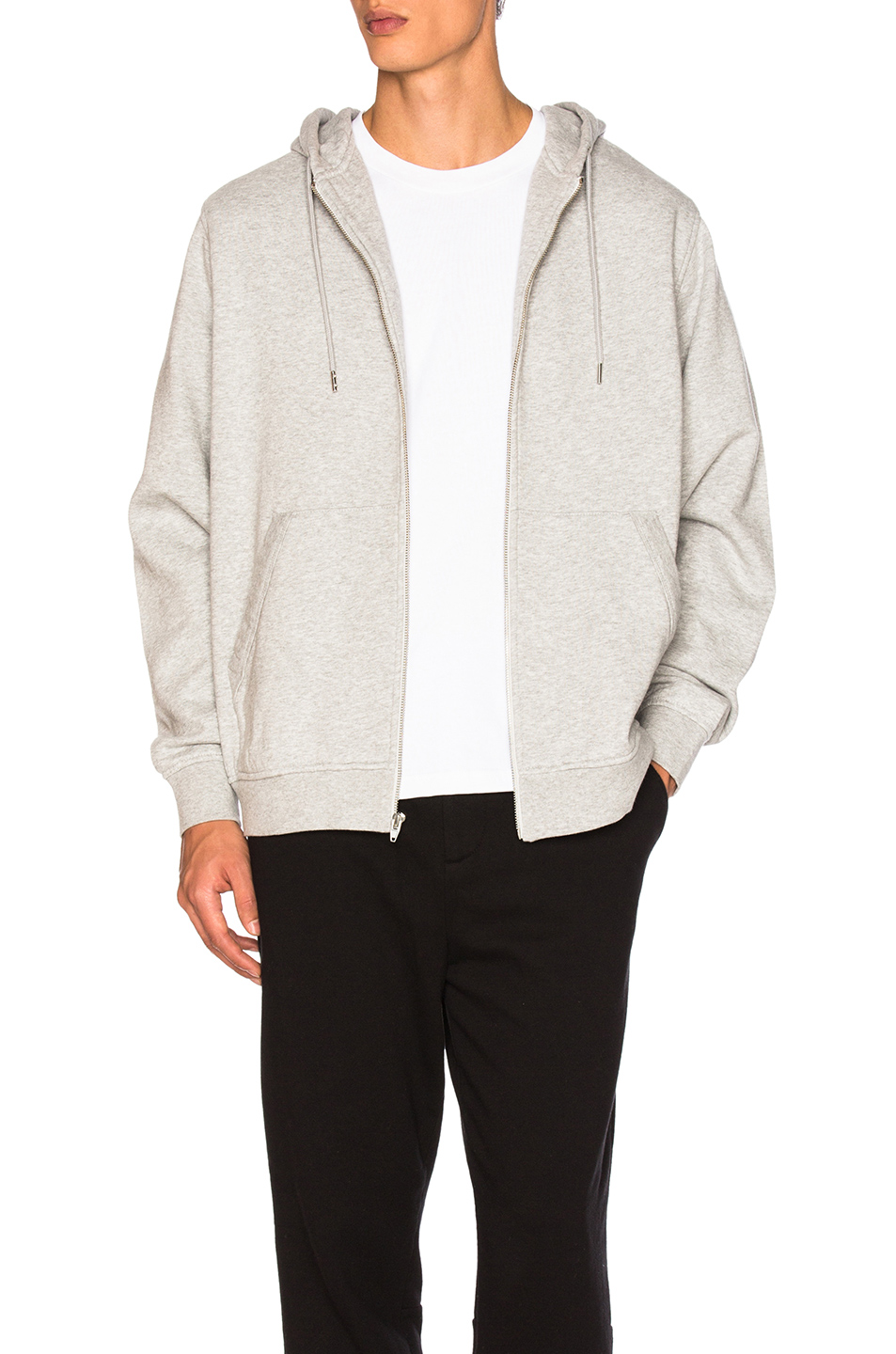 Alexander Wang Zip Up Hoodie in Gray