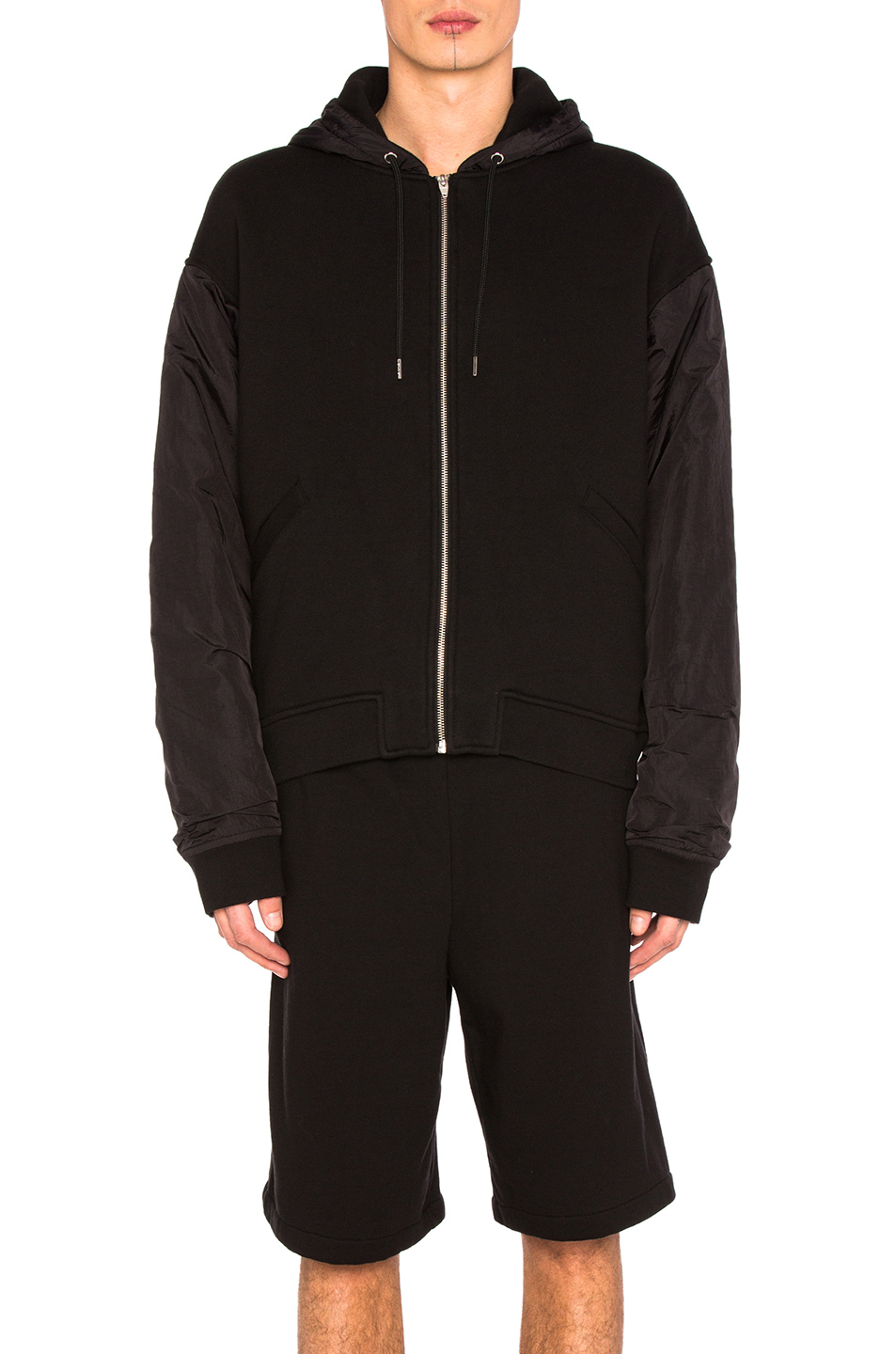 Alexander Wang Nylon Combo Jacket in Black