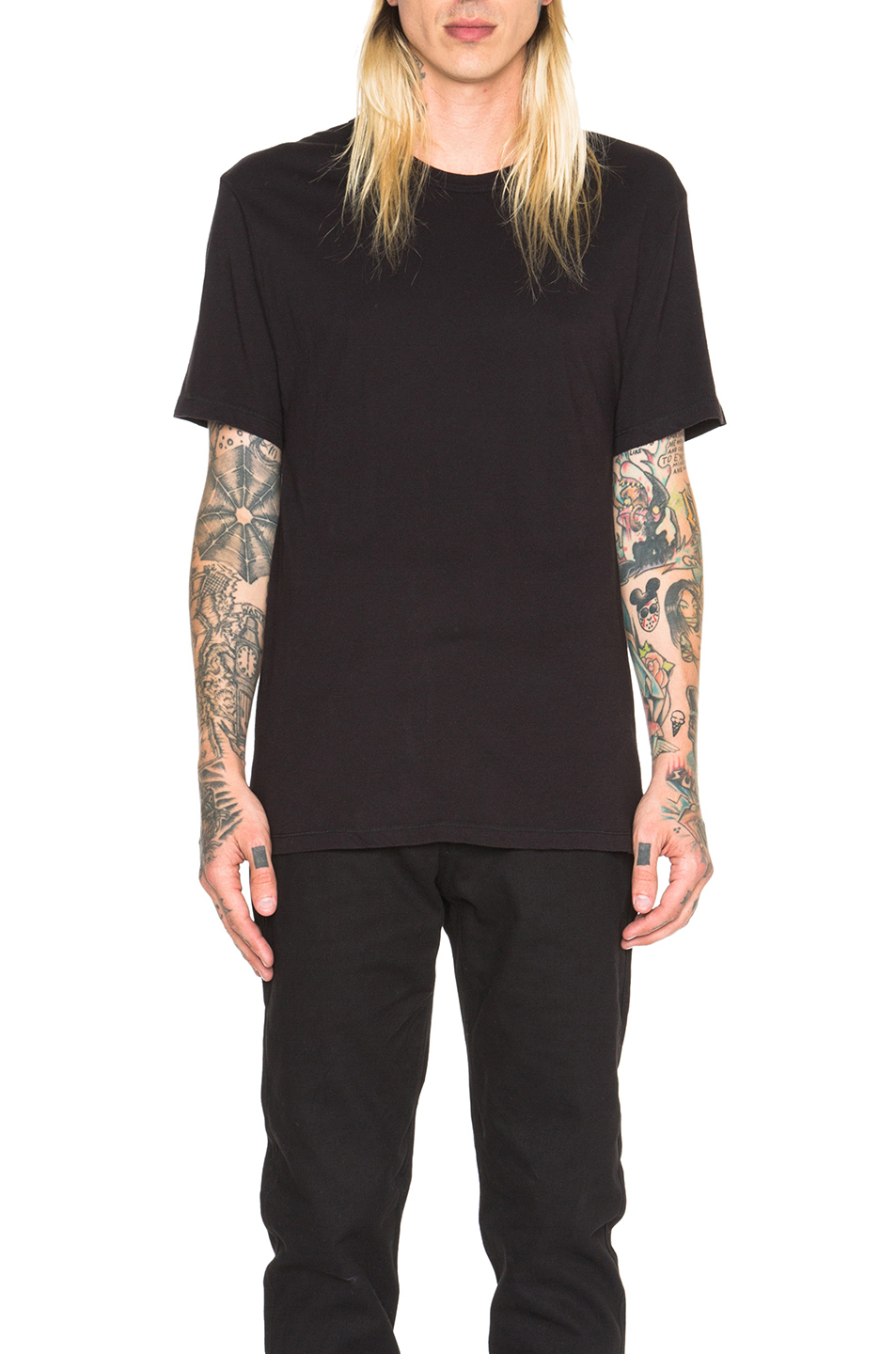 Alexander Wang Classic Short Sleeve Tee in Black