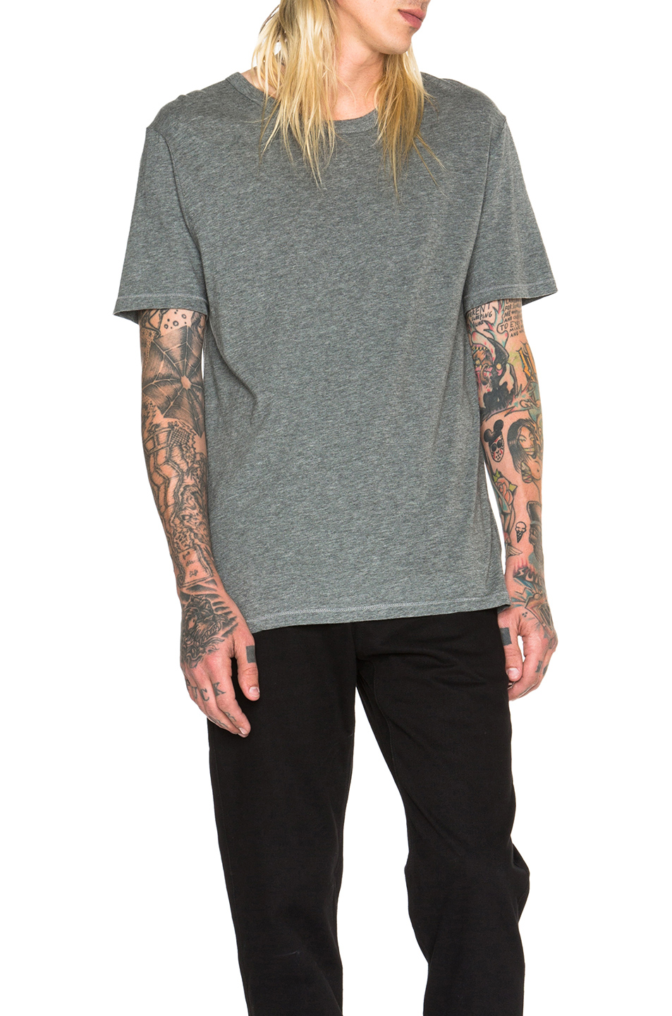 Photo of Alexander Wang Classic Short Sleeve Tee in Gray - shop Alexander Wang menswear