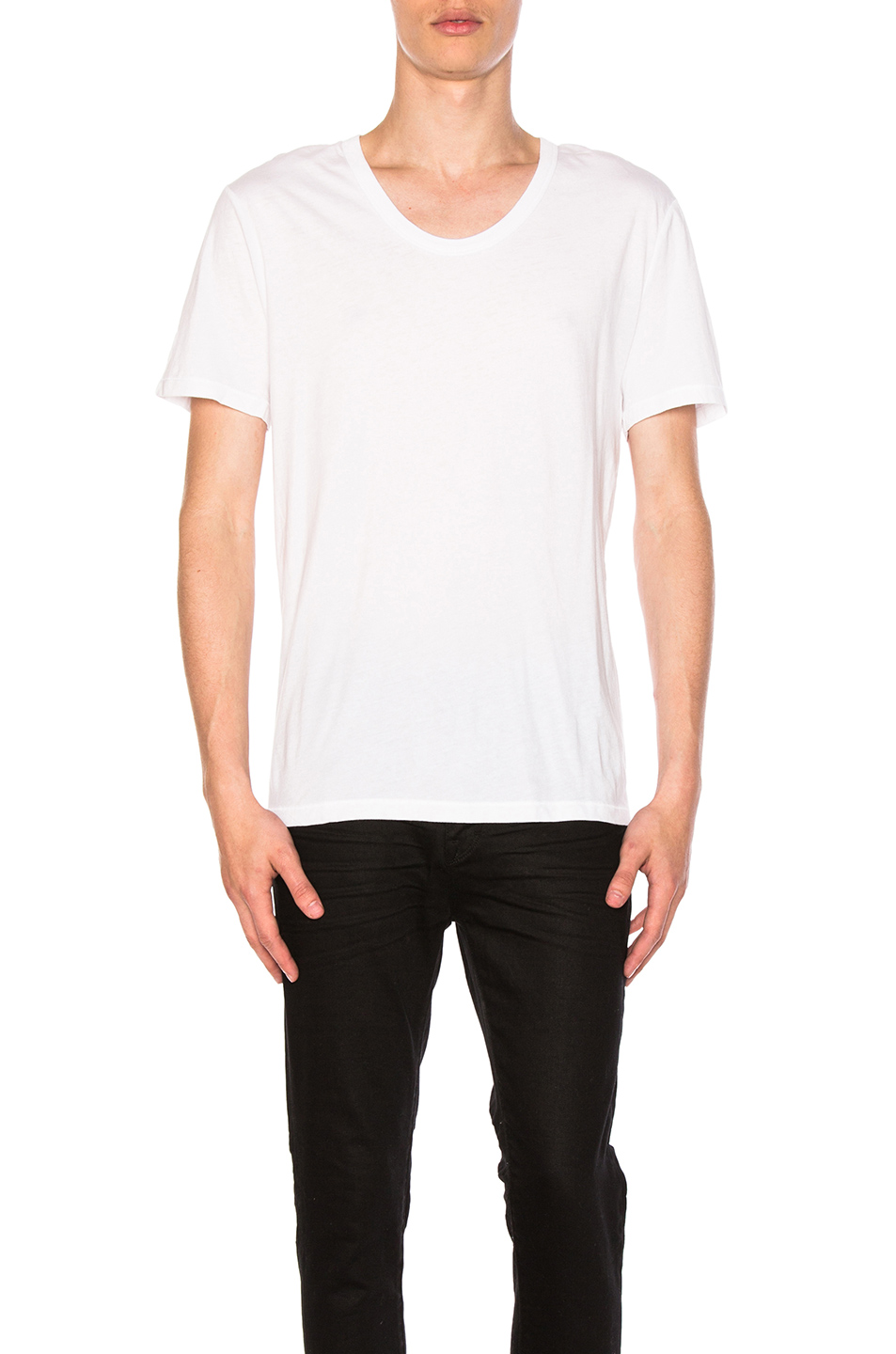Alexander Wang Classic Low Neck Tee in White