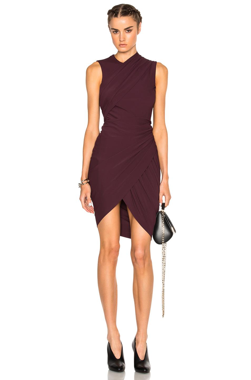 Alexander Wang Asymmetric Drape Dress in Purple