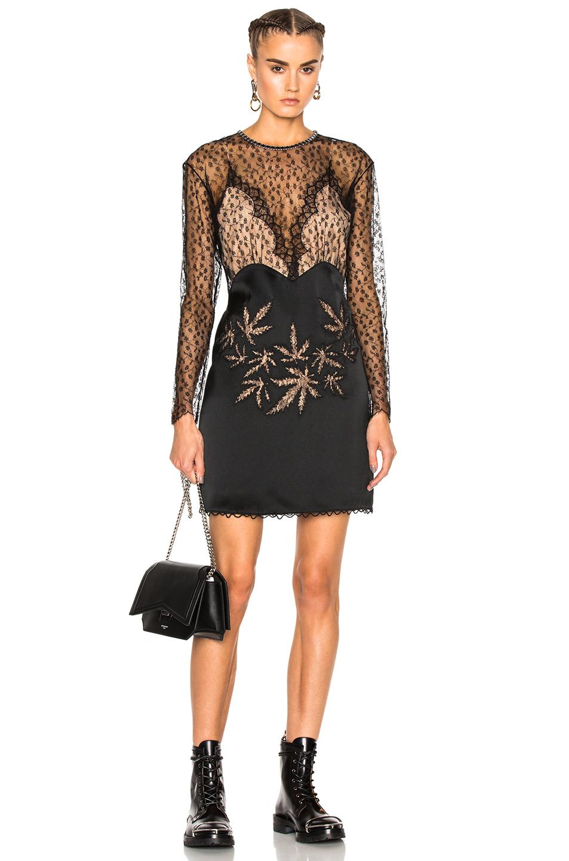 Alexander Wang Lace Leaf Dress in Black