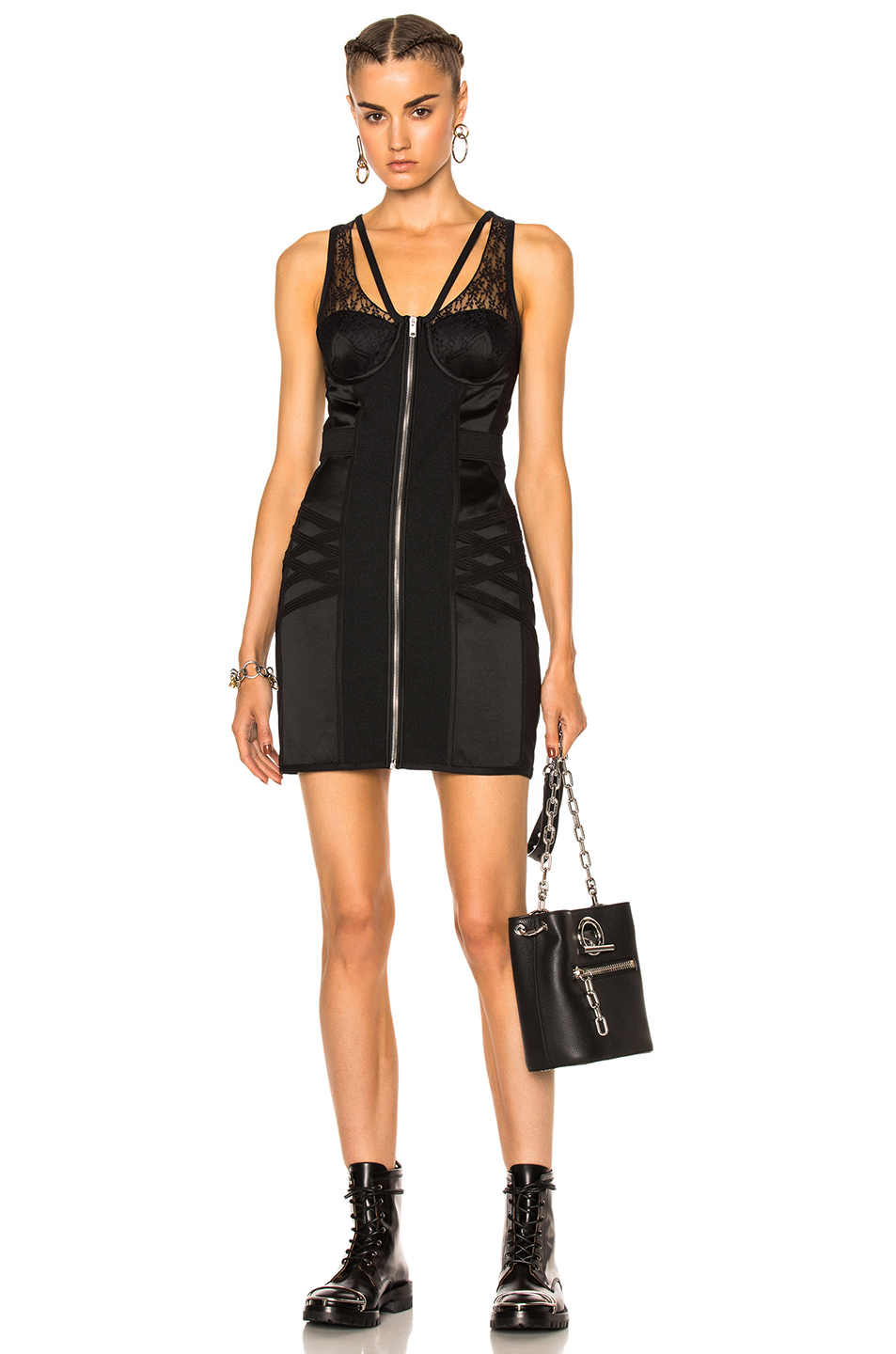 Photo of Alexander Wang Bodycon Bustier Mini Dress in Black online sales
