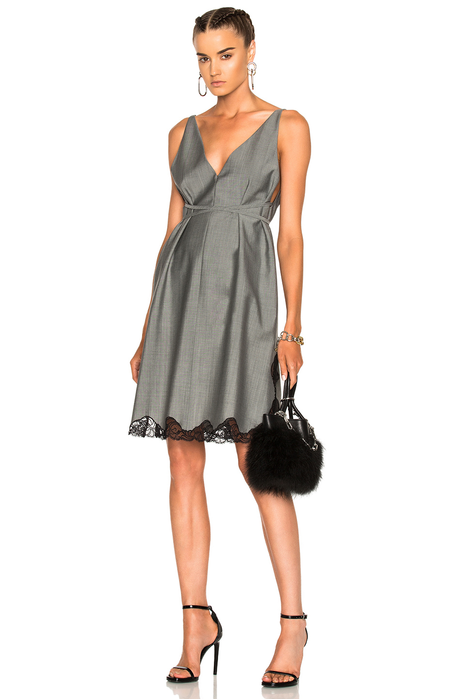 Alexander Wang Low-V A-Line Tunic in Gray