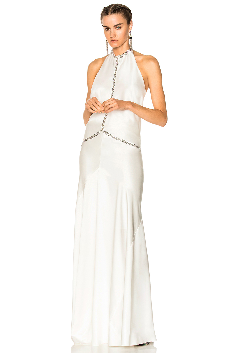 Alexander Wang Backless Gown in White