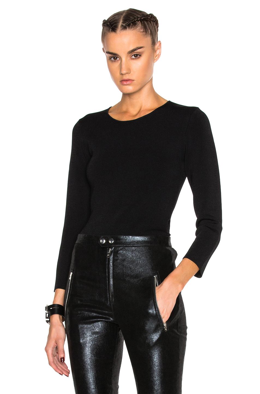 Alexander Wang Keyhole Crewneck Sweater in Black