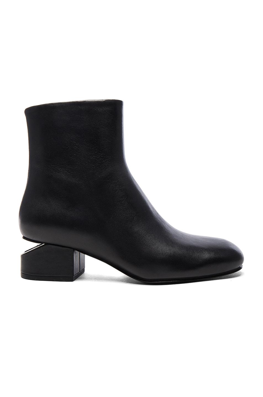 Alexander Wang Leather Kelly Booties in Black
