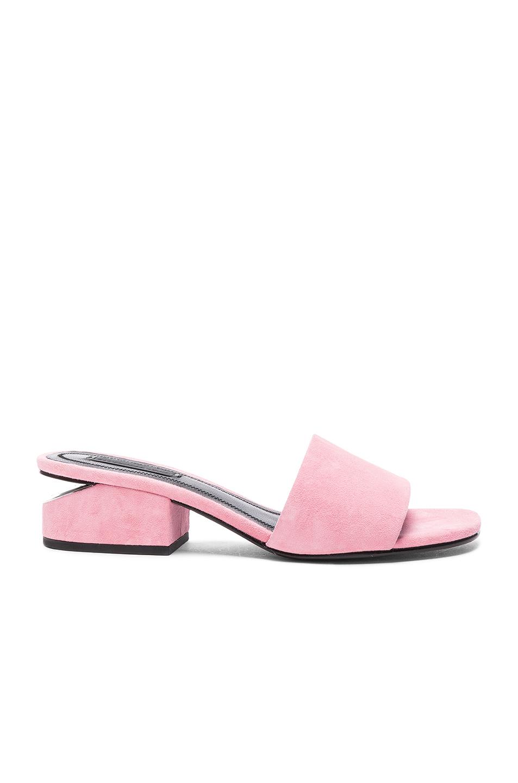 Alexander Wang Suede Lou Slides in Pink
