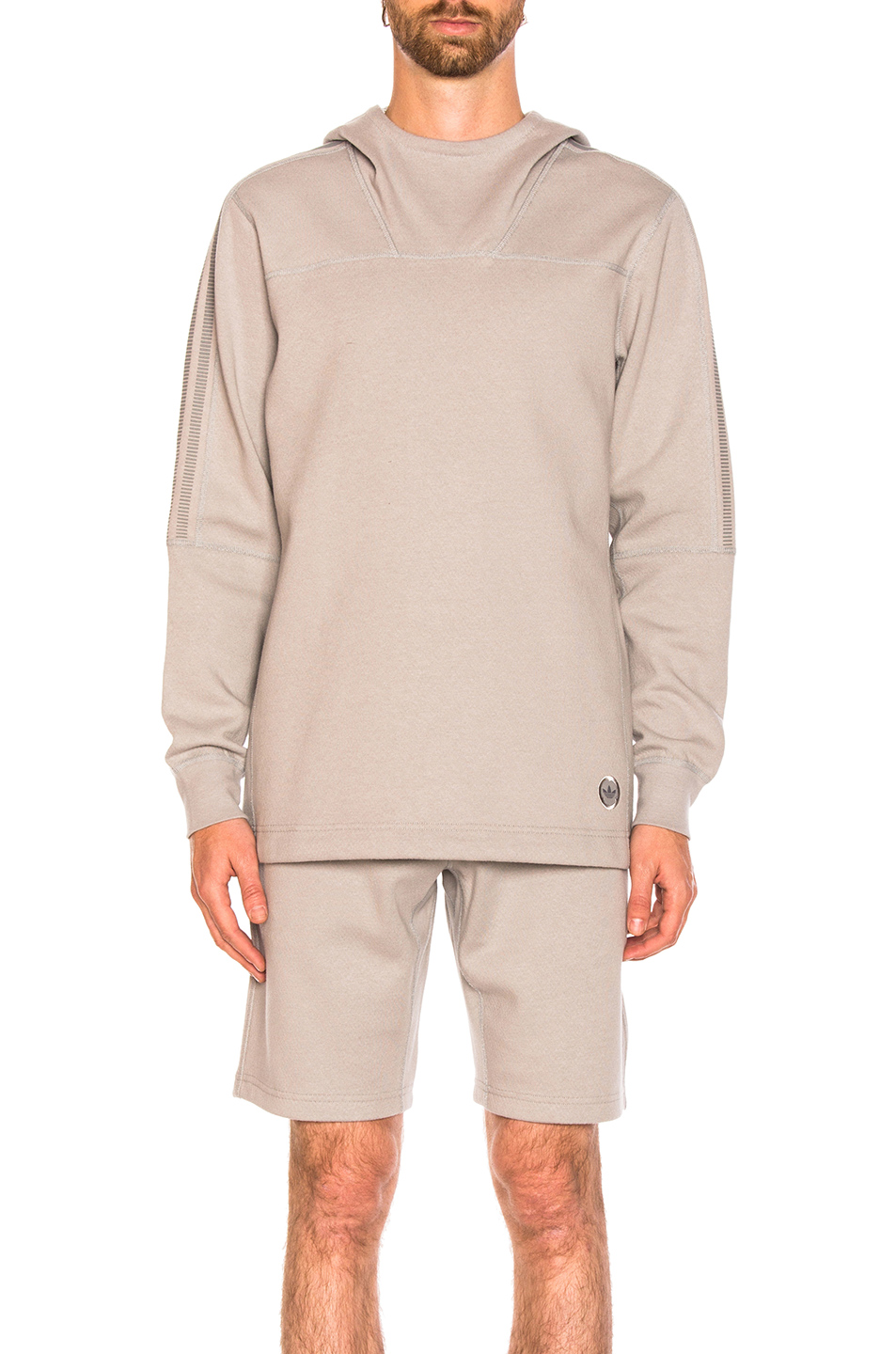 adidas by wings + horns Bonded Linen Hoodie in Gray