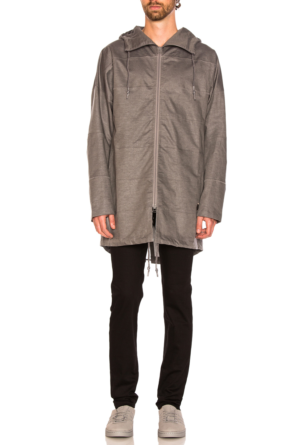 adidas by wings + horns Tech Parka in Gray