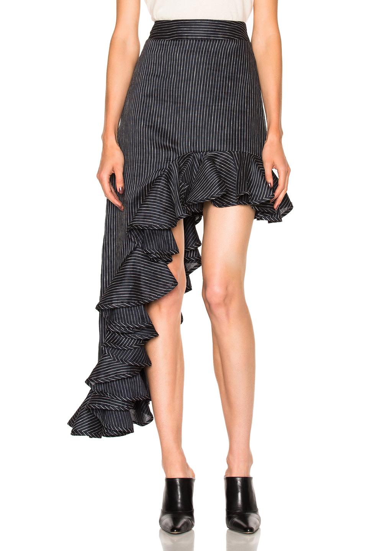 Beaufille Ara Skirt in Blue,Stripes,White