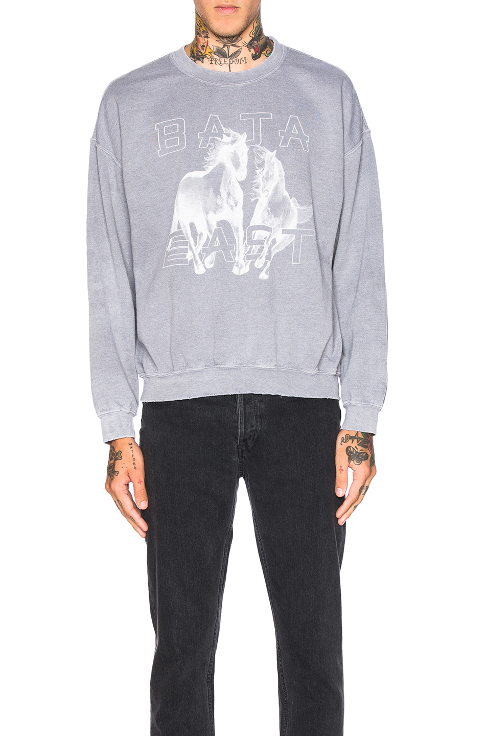 Baja East Fleece Sweatshirt in Gray