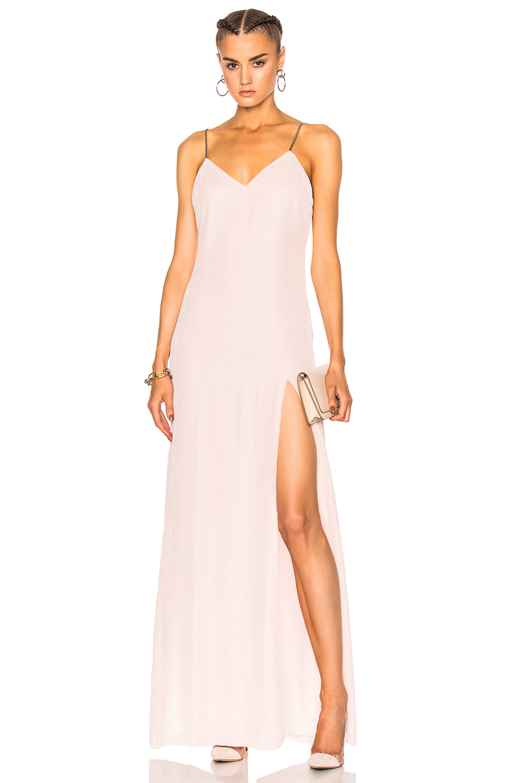 Baja East Velvet Dress in Neutrals,Pink