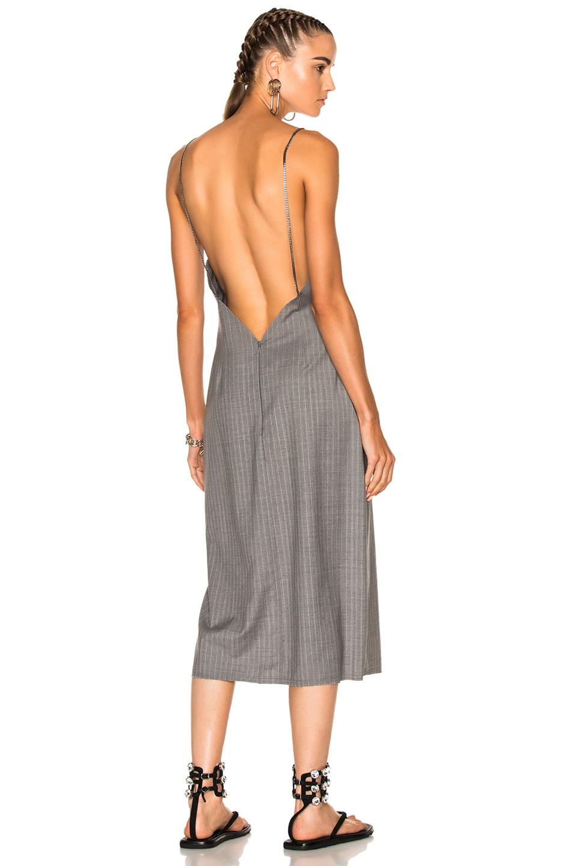 Baja East Pinstripe Dress in Gray,Stripes