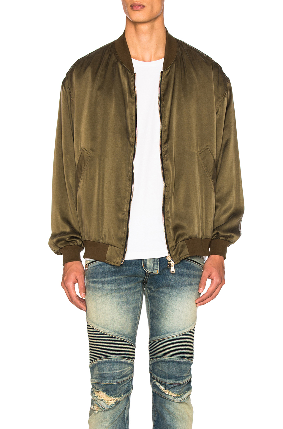 BALMAIN Bomber Jacket in Green