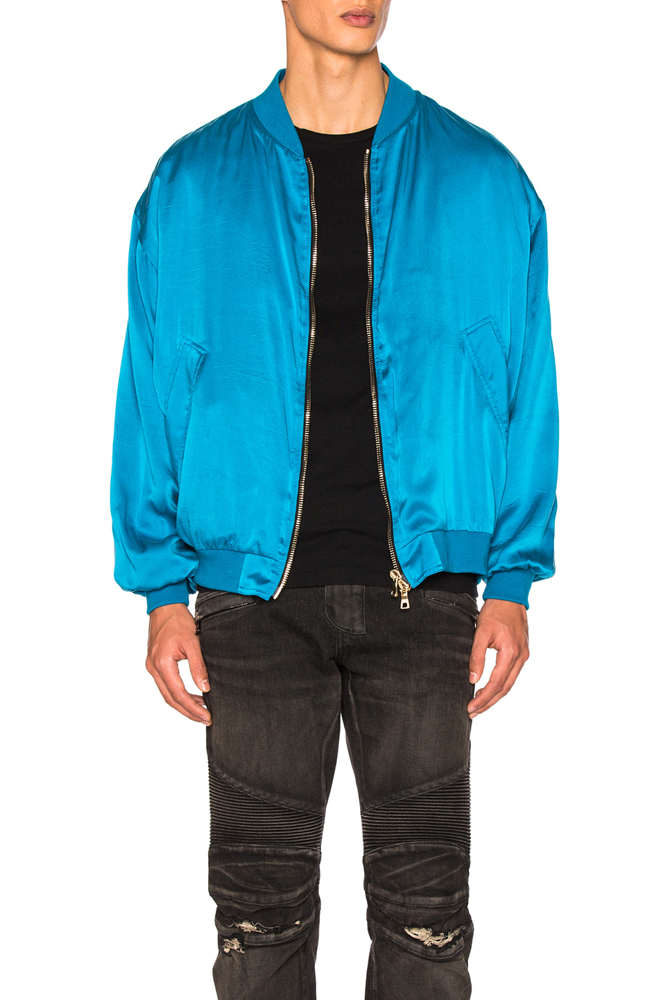 BALMAIN Bomber Jacket in Blue
