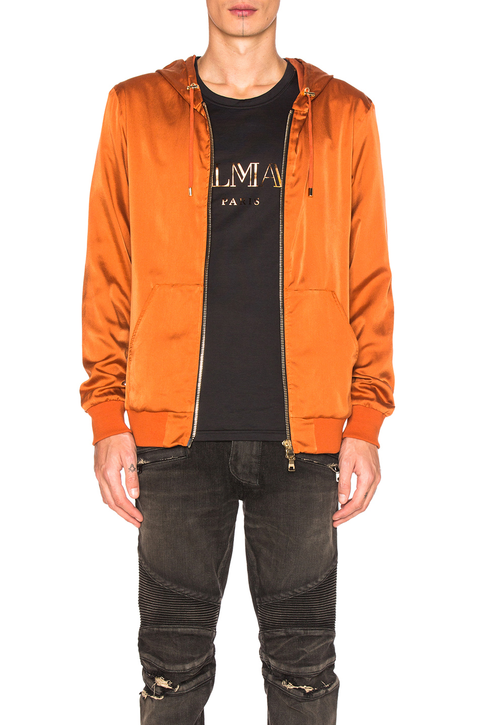 BALMAIN Bomber Jacket in Orange
