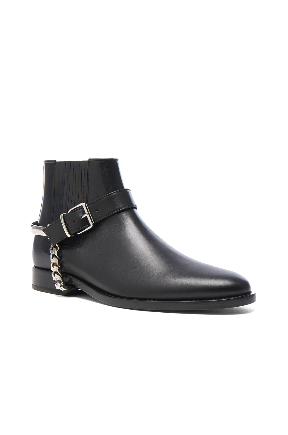 BALMAIN Leather Boots in Black