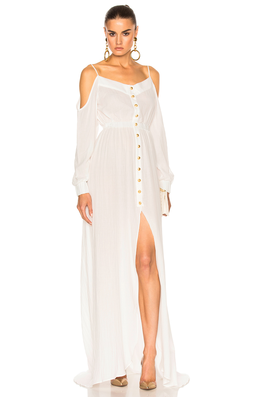 Photo of BALMAIN Maxi Dress in White online sales