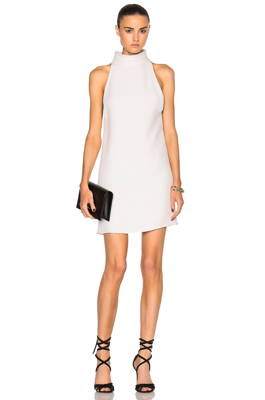 Brandon Maxwell Sleeveless Shift Dress in White
