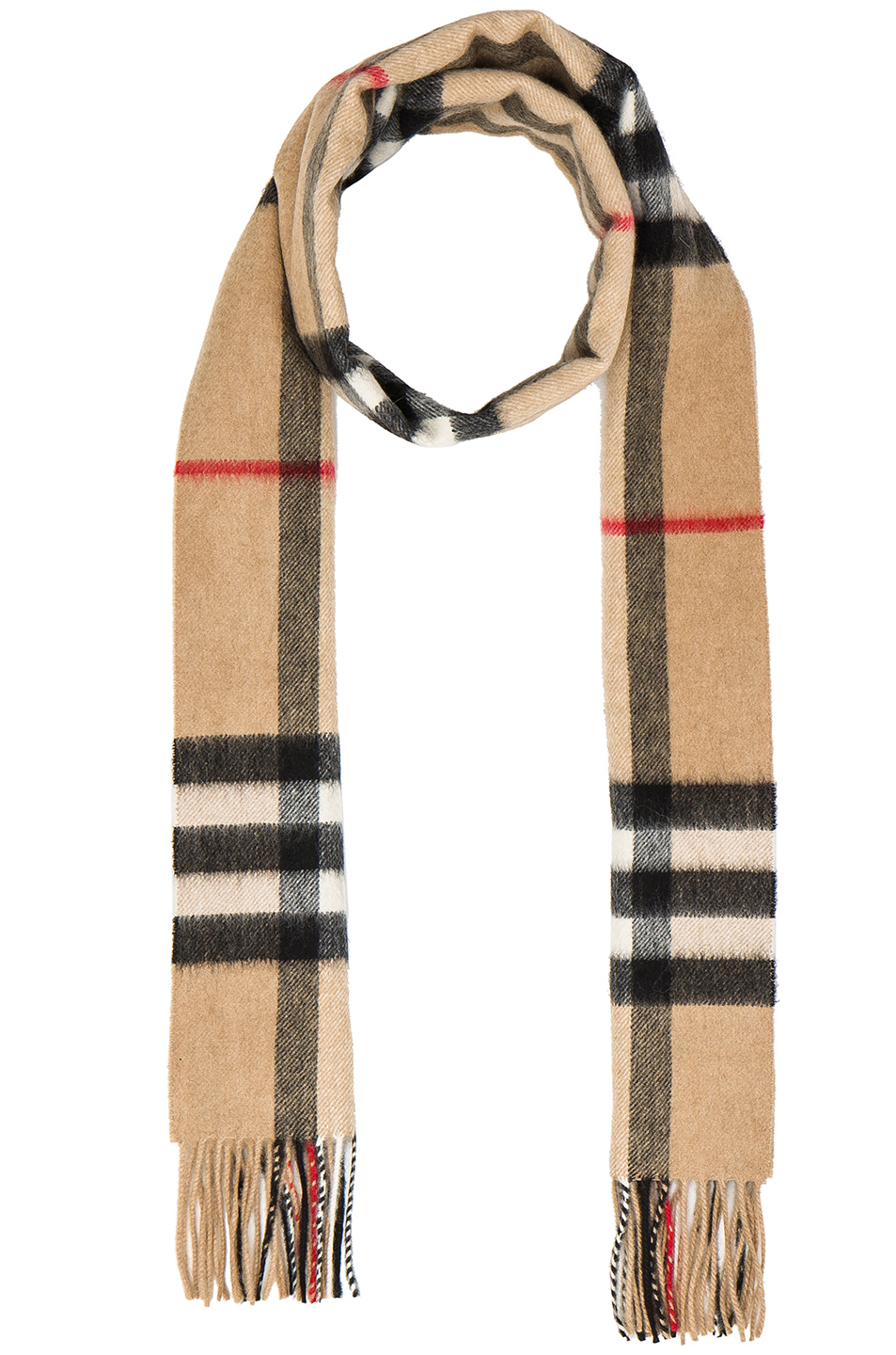 Burberry Giant Check Cashmere Scarf in Neutrals,Checkered & Plaid