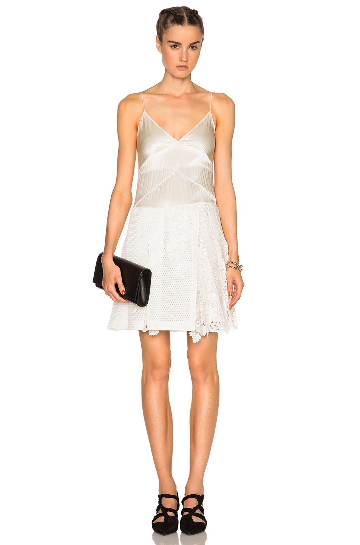 Burberry Cami Dress in White,Neutrals
