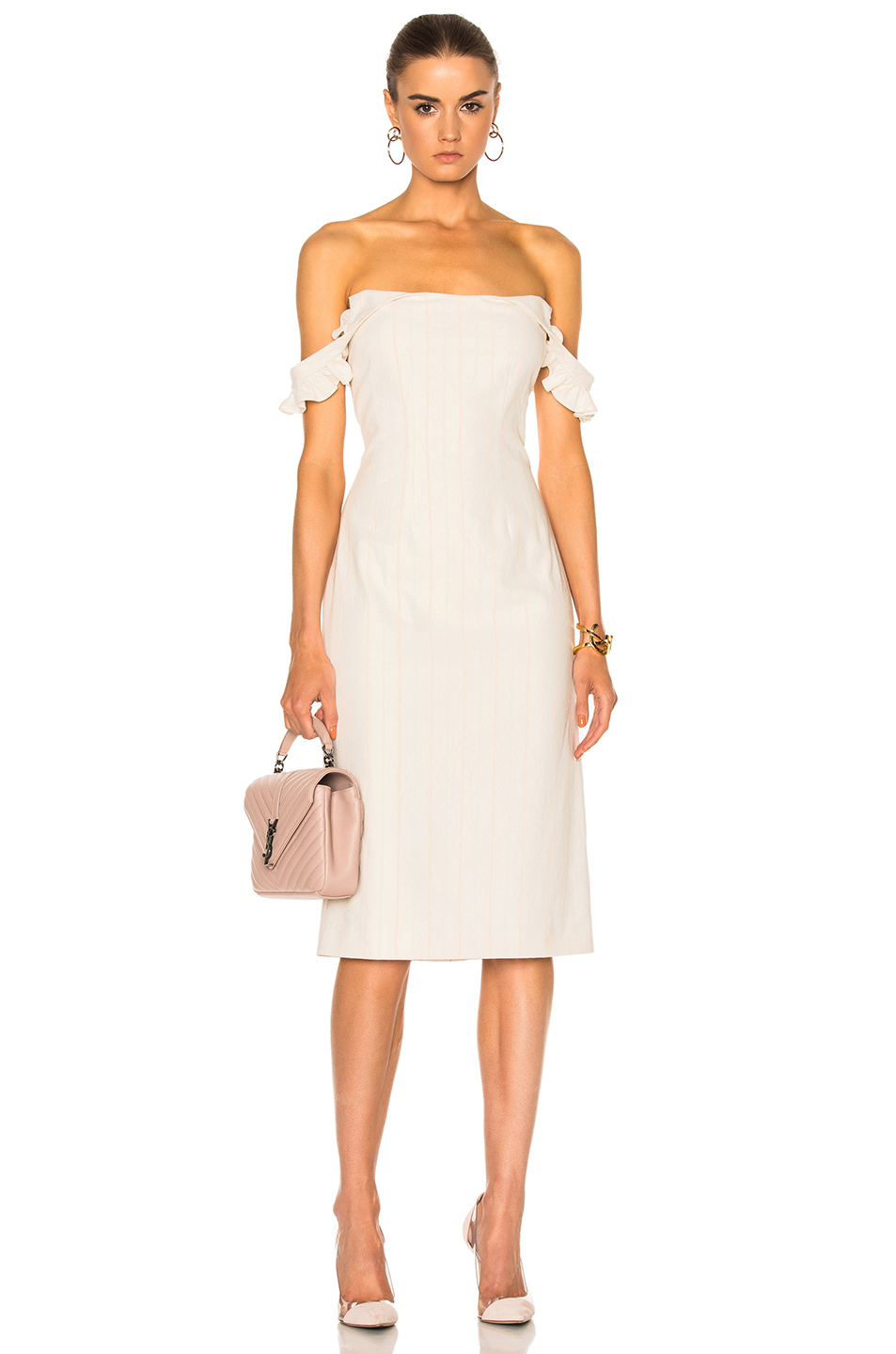Brock Collection Daisy Dress in Neutrals,Stripes