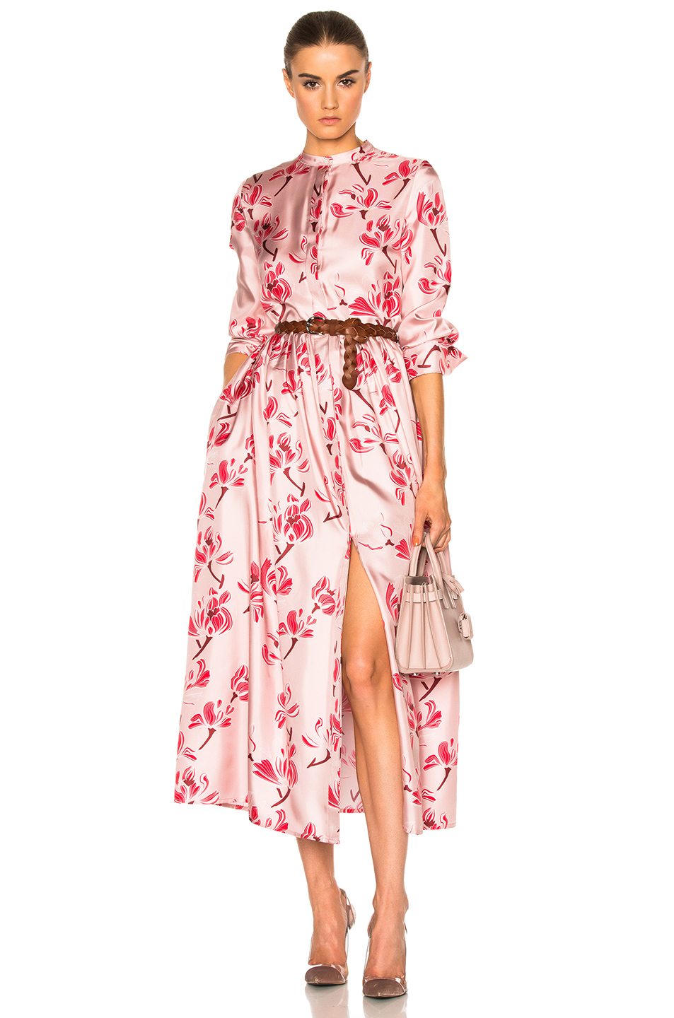 Brock Collection Disco Dress in Pink,Floral